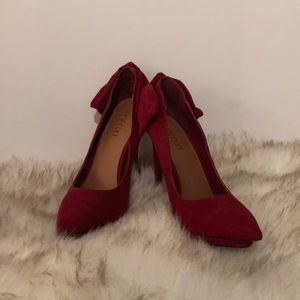 Red Suede Shoe Cult Pumps